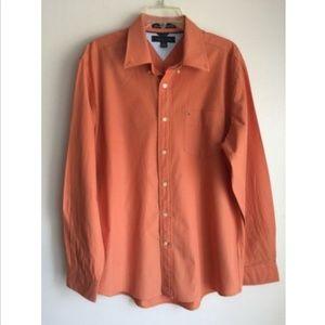 Tommy Hilfiger Mens Button Down Shirt Sz L Cotton